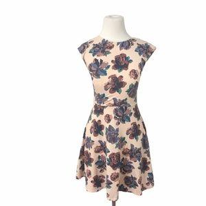 Aritzia Talula Floral Palmetto Skater Mini Dress